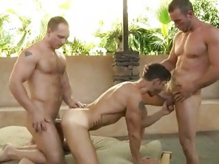 handsome gay stud had twofold pierced by hung